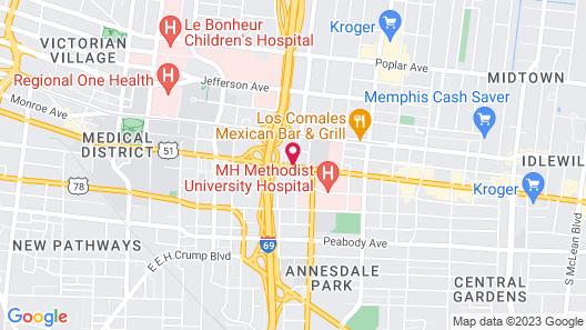 Holiday Inn Express Memphis Medical Center Midtown, an IHG Hotel Map