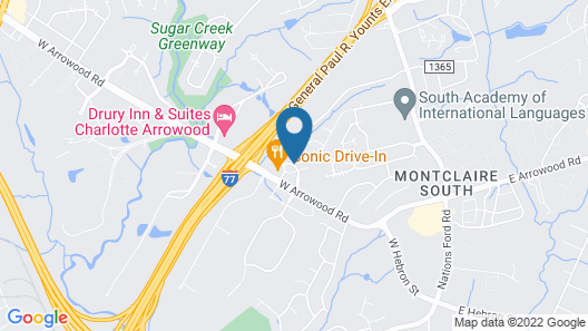 TownePlace Suites by Marriott Charlotte Arrowood Map