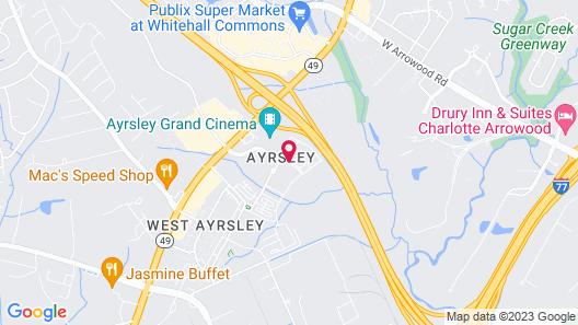 Hilton Garden Inn Charlotte/Ayrsley Map