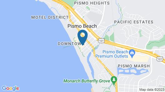 Sandcastle Hotel on the Beach Map