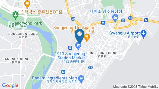 Gwangju Aura Hotel Map