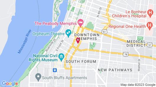 The Westin Memphis Beale Street Map