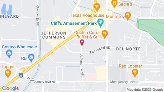 Holiday Inn Hotel & Suites Albuquerque-North I-25 Map