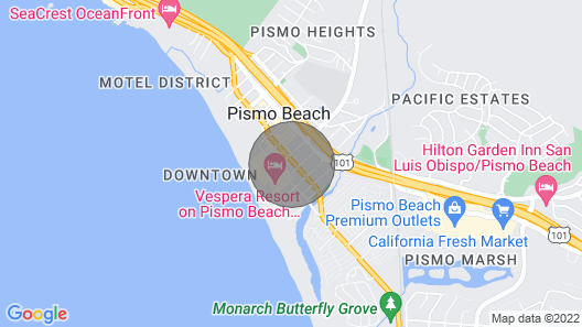 551 Dolliver: 4 BR, 3 BA House in Pismo Beach, Sleeps 8 Map
