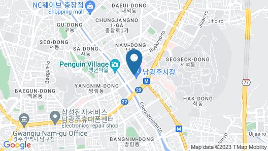 Gwangju Divine Hotel Map