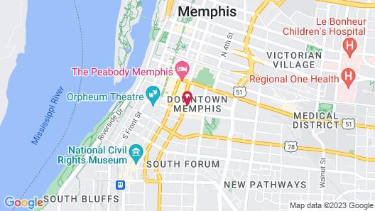 Hampton Inn & Suites Memphis-Beale Street Map