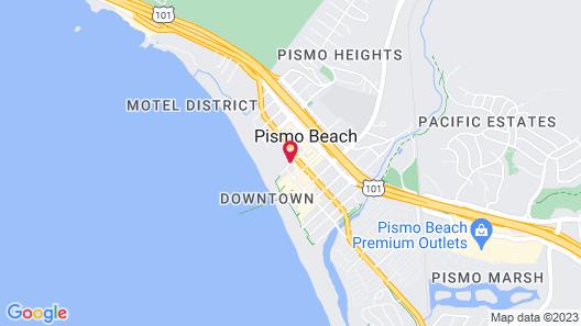 Motel 6 Pismo Beach - Pacific Ocean Map