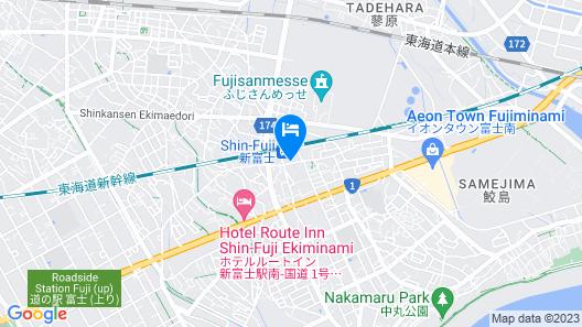 Toyoko Inn Shin-fuji-eki Minami-guchi Map