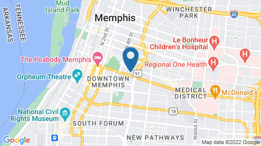 La Quinta Inn & Suites by Wyndham Memphis Downtown Map