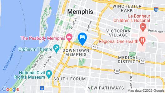 Vista Inn & Suites Memphis Map