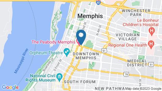 Holiday Inn Downtown Memphis, an IHG Hotel Map