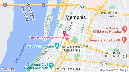 Residence Inn by Marriott Memphis Downtown Map