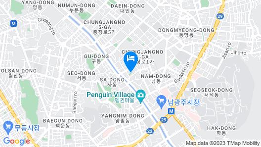 Gwangju Hotel Bentley Tourist Hotel Chungjang Map