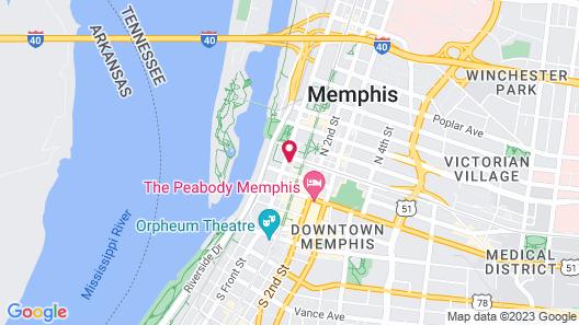 Bluebird Suites Near AutoZone Park Map