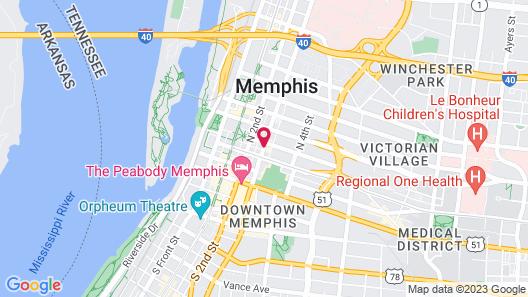 Hotel Indigo Memphis Downtown Map