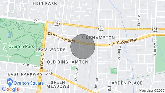 Clean & Serene Studio in Walkable Arts District Map