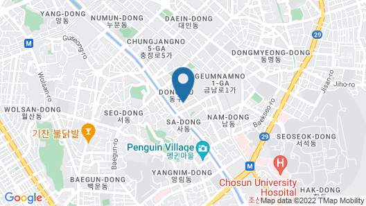 Hotel Top Castle Gwangju Map