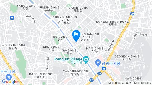 Hotel Top Castle Gwangju Map