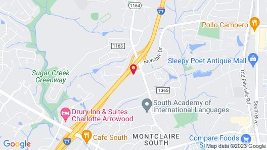 Motel 6 Charlotte, NC - Coliseum Map