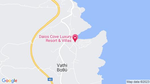 Daios Cove Luxury Resort & Villas Map