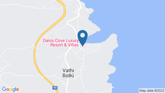 Daios Cove Luxury Resort & Villas Map