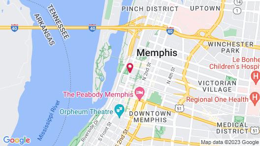 MOXY Memphis Downtown Map