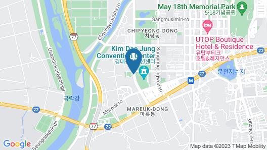Holiday Inn Gwangju Map