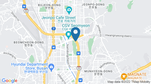 Avani Central Busan Map