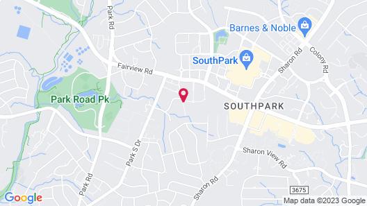 Residence Inn by Marriott Charlotte SouthPark Map