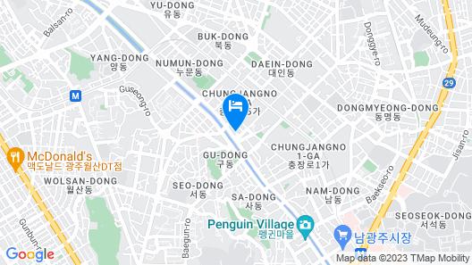 Gwangju Chungjang-ro Hotel DUU Map
