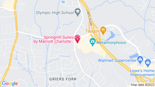 SpringHill Suites by Marriott Charlotte Southwest Map