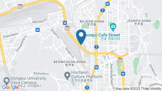 Blue Backpackers Hostel Map
