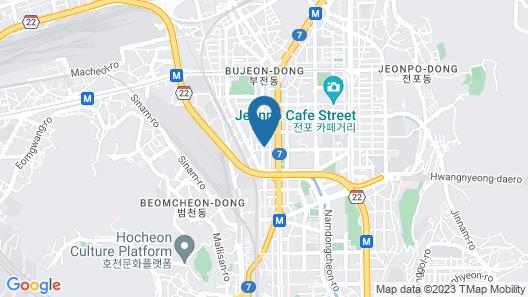 SOLARIA NISHITETSU HOTEL Busan Map