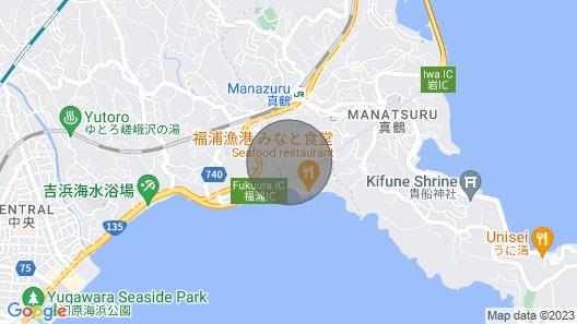 There is a Deck Overlooking the sea and the Harbor / Ashigarashimo-gun Kanagawa Map