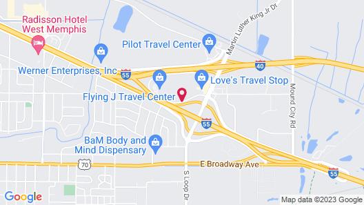 Express Inn West Memphis Map