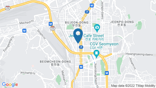K-Guesthouse Seomyeon 1 Map
