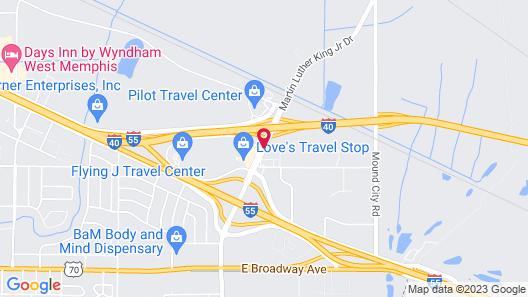 Super 8 by Wyndham West Memphis Map