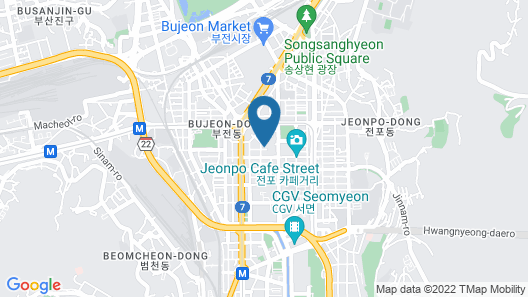 Hotel Aria Seomyeon Map