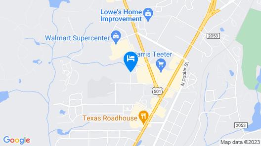 Hampton Inn & Suites Southern Pines-Pinehurst Map