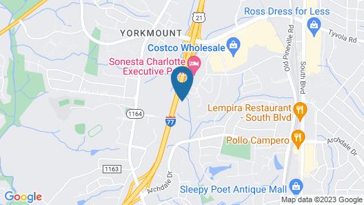 Comfort Inn Charlotte Airport Uptown Map