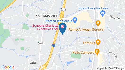 SureStay Studio by Best Western Charlotte Executive Park Map