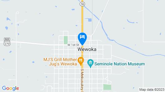 Best Western Plus Wewoka Inn & Suites Map
