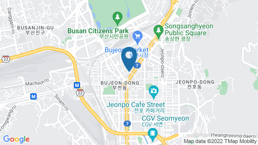 No.25 Hotel Seomyeon Subway Station Map