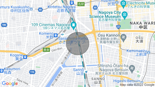2C. Nagoya Station 15 Minutes on Foot / Zepp Nagoya 5 Minutes / Sanno Onsen 10 Minutes / 4 Persons Family Possible / Free Parking Wifi Map