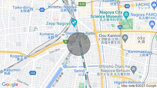 3B .. Nagoya Station 15 minutes / ZEPP NAGOYA 5 minutes / Sanno Onsen / Free parking / 3 people possible / Convenient transportation Map