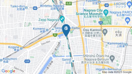 Hostel 758 Nagoya 3G Map