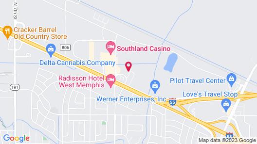 Knights Inn West Memphis Map
