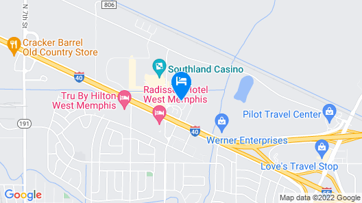 Hallmarc Inn & Suites of West Memphis Map
