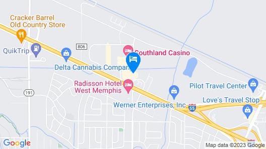 Days Inn by Wyndham West Memphis Map