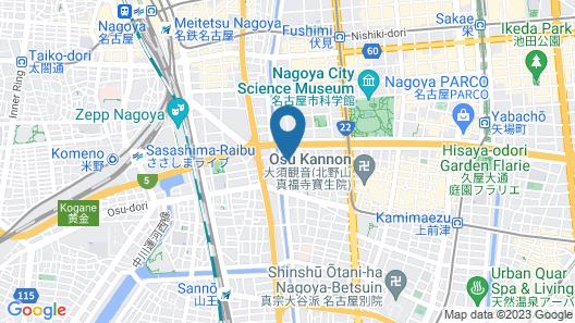 300 Nagoya Osu Kannon Map